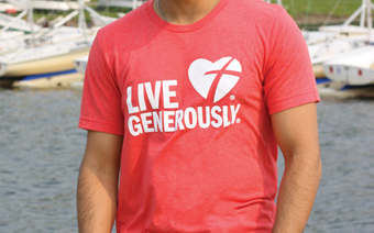 Red Live Generously T-shirt