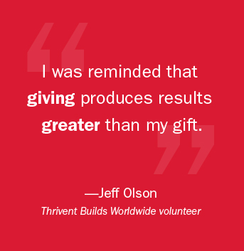 I was reminded that giving produces results greater than my gift.     