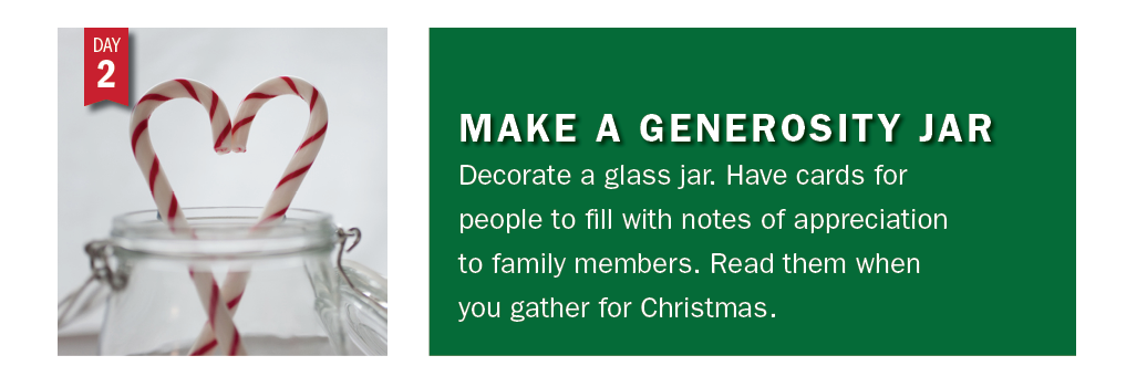 Advent Day 2: Make a generosity jar