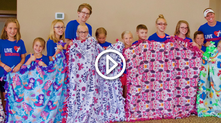 avery s blankets comfort for kids fighting cancer live generously