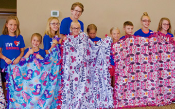 Founder of blanket ministry is on a mission to give kids who are sick a little piece of home.