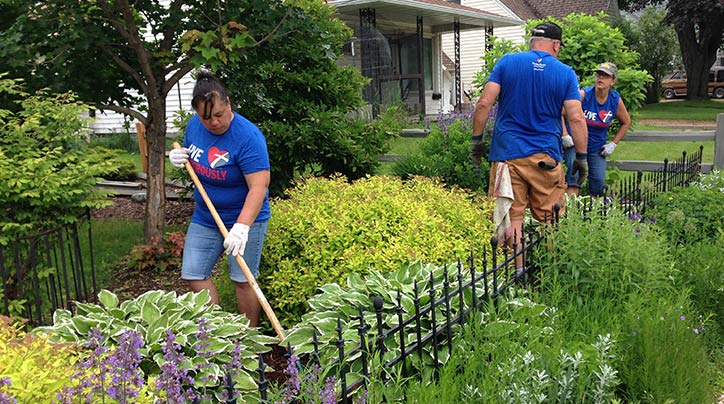 Discover how five churches helped beautify and inspire an entire community.