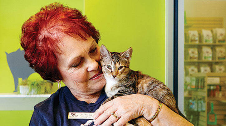 Thrivent member Pat Nielsen volunteers her time at the Louisiana Society for the Prevention of Cruelty to Animals