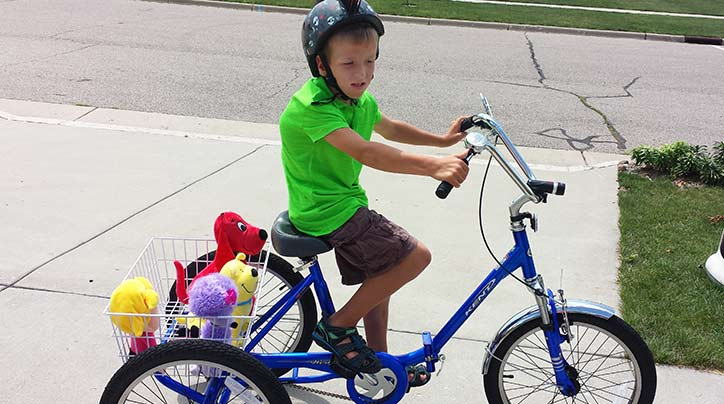 This young boy's rare genetic disorder was no match for the power of a caring local community.