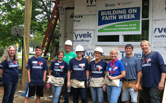 Thrivent Builds volunteers participating in Building on Faith