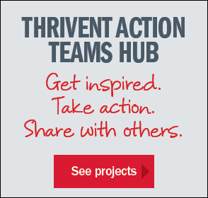 See projects in the Thrivent Actions Teams Hub