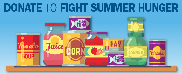 Donate to your local food pantry this summer to help fight hunger.
