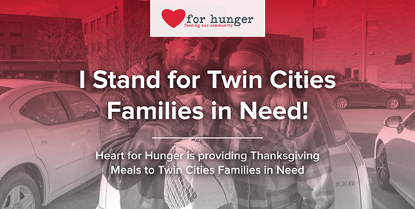Share on Facebook and Thrivent will donate a meal to an individual in need.